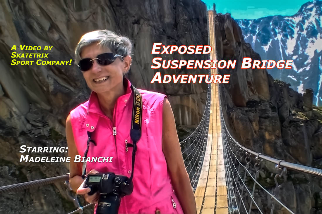 EXPOSED SUSPENSION BRIDGE ADVENTURE | Swiss Alps video clip